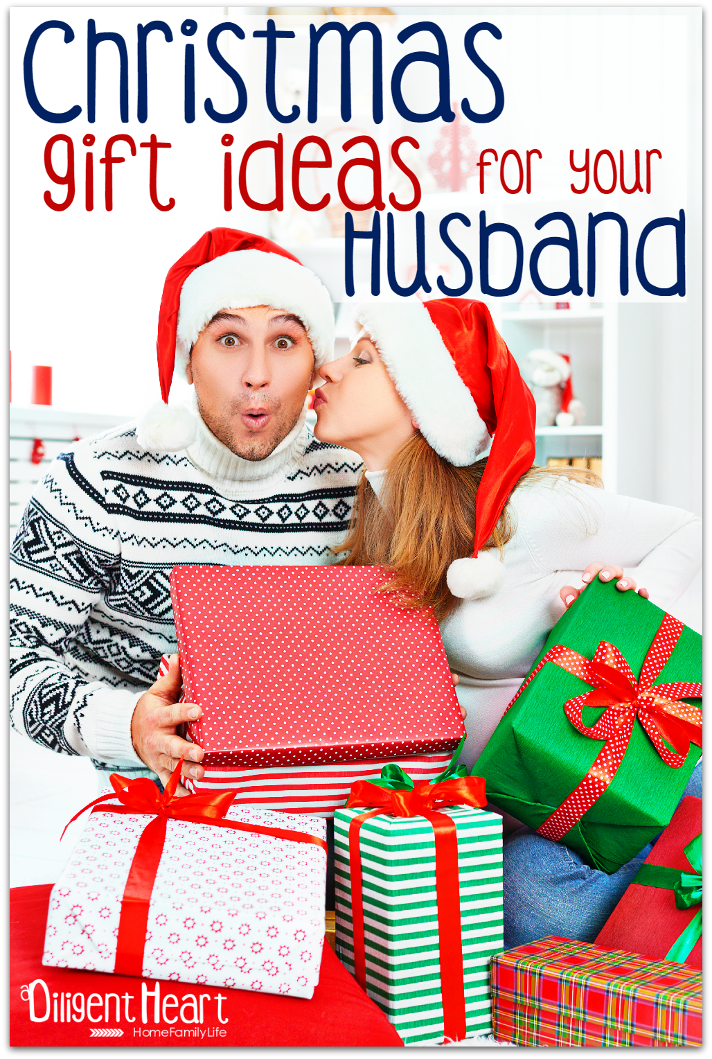 Looking for Christmas gift ideas for your hubby? I've put together a list of ideas that should help you on your way! Christmas Gift Ideas For Your Husband !! | adiligentheart.com
