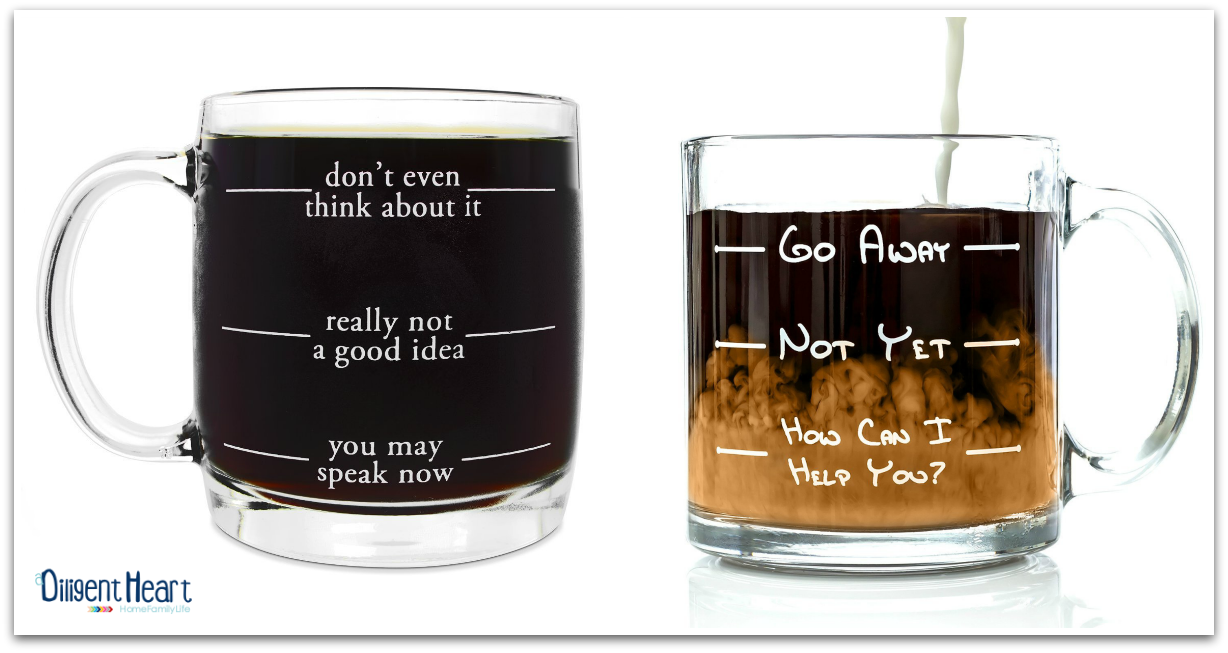 This coffe glass is just too funny i m sure you ve seen them