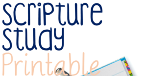 Scripture Study Printable For Kids