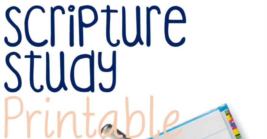 Scripture Study Printable For Kids