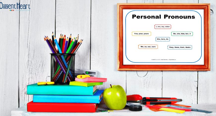 Free Printable ~ Personal Pronouns