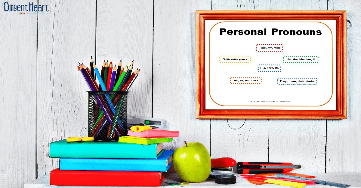 FREE Poster Personal Pronouns Orange | adiligentheart.com
