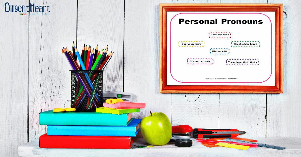 FREE Poster Personal Pronouns Pink   adiligentheart.com