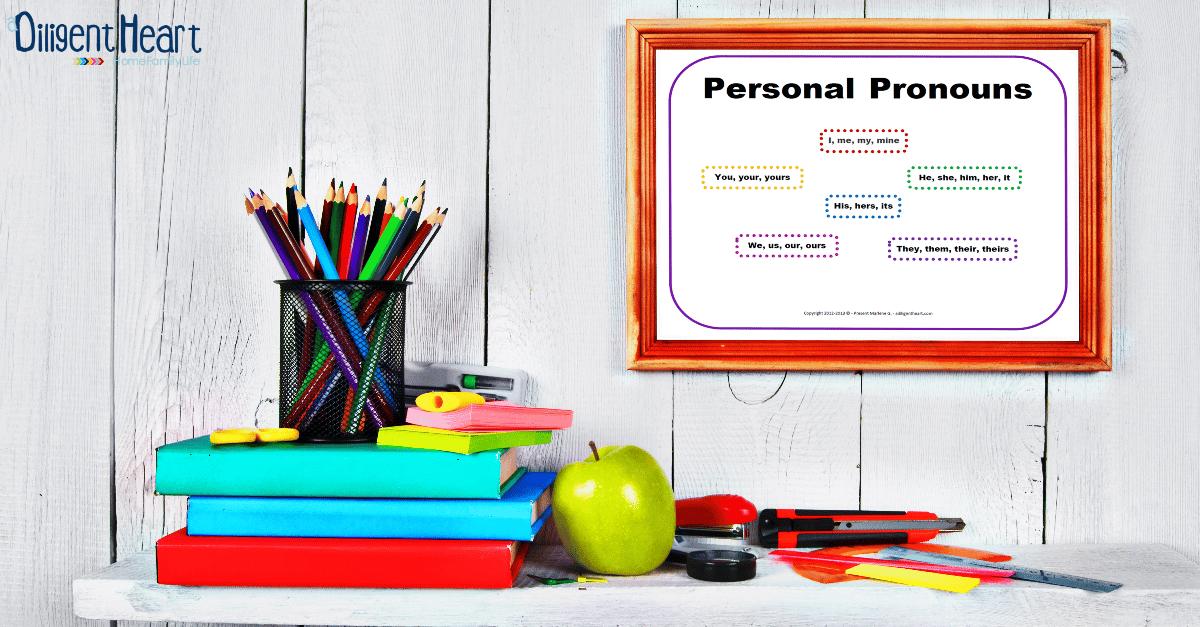 FREE Poster Personal Pronouns Purple | adiligentheart.com