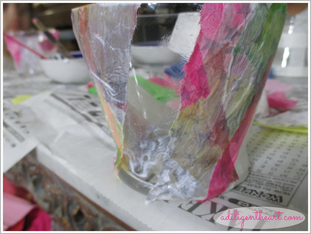 5 Days Of Dollar Store Crafts: Day 3 ~ Deco Vase