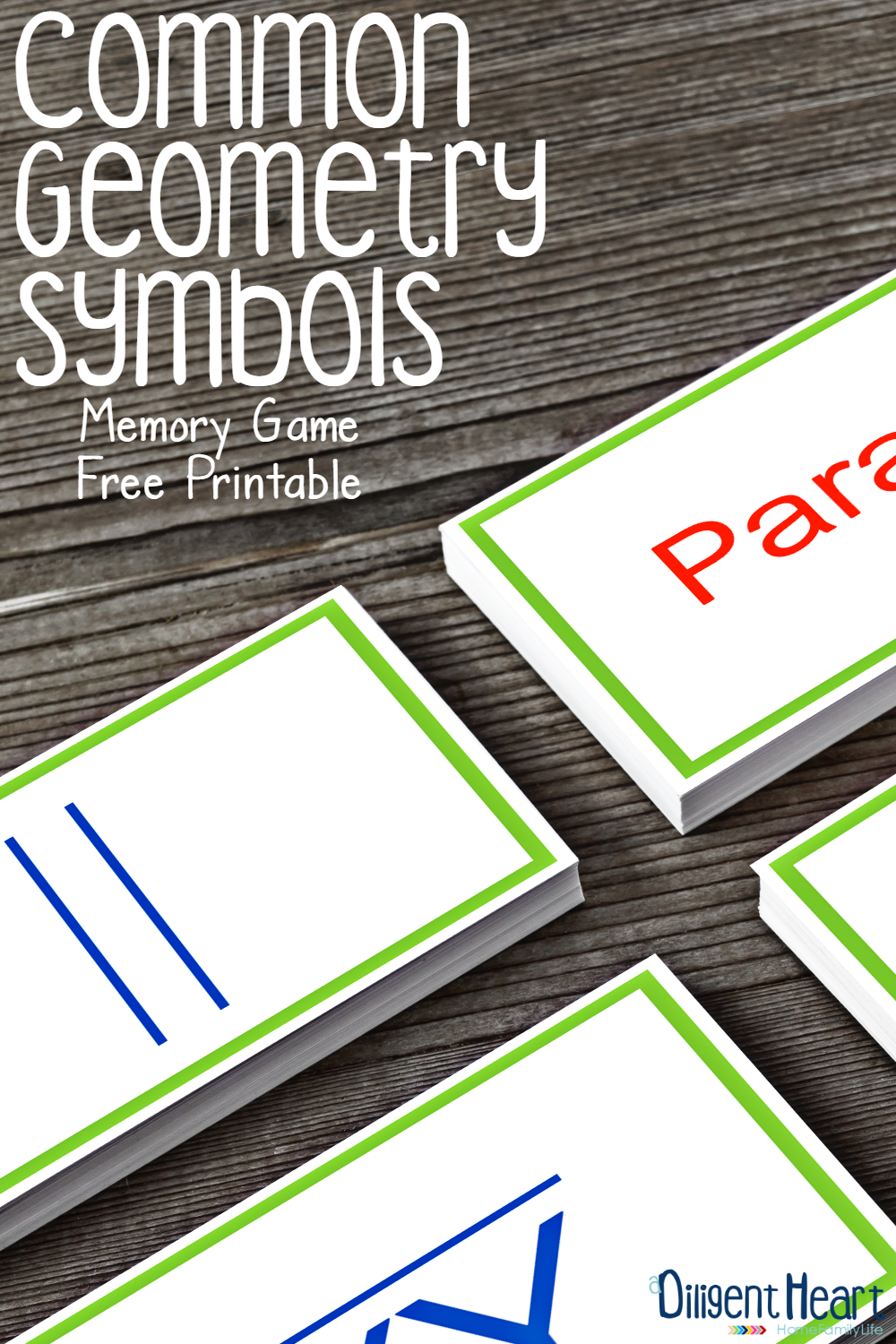 Looking for a creative way to practice Geometry Symbols with your kiddo? In this post, I'm sharing another one of my favorite resources to use for Geometry Symbol practice! . Common Geometry Symbols Matching Game | adiligentheart.com