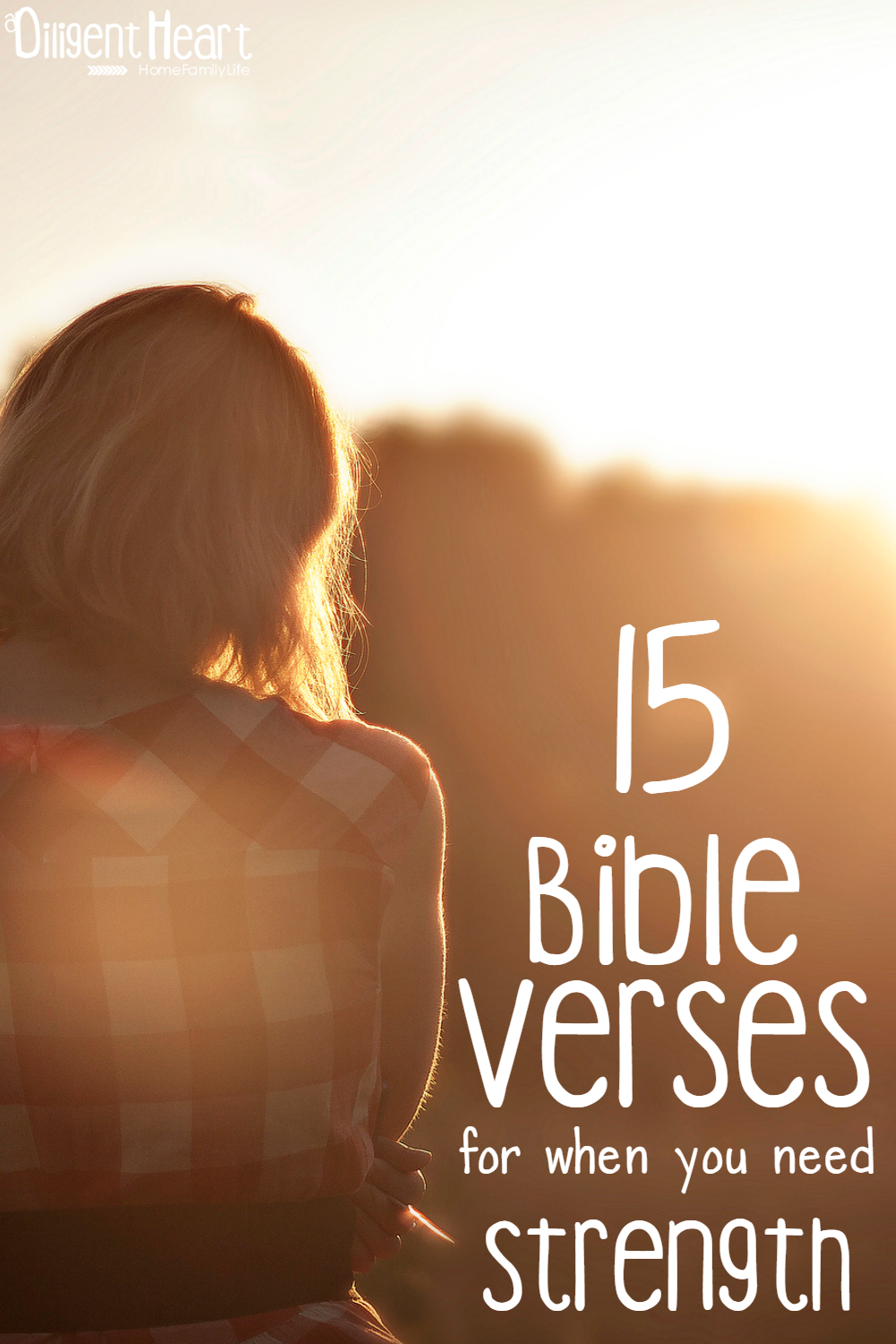 Sometimes challenges make us feel weak. And then, we forget to lean on Him for strength throughout the busy and challenges. In those moments, we need a reminder that in Him is where we can find our strength. Here are 15 Bible Verses for when you need to be reminded of the strength we can find in Him. | adiligentheart.com