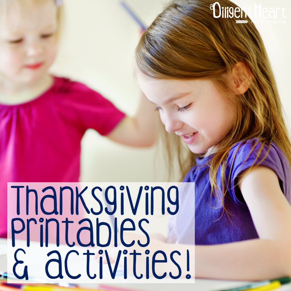 Thanksgiving Printables and Activities for Kids sq