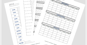 Organizing and Tracking Goals {Free Printable: Jan. Feb. March}
