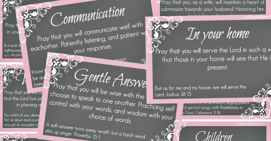 Prayer Cards for Your Marriage