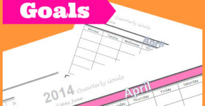 Organizing and Tracking Goals {Free Printable: April May June}
