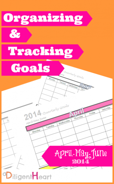 Organizing and Tracking Goals for {Free Printable April May June}