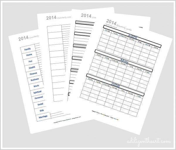 Organizing and Tracking Goals for {Free Printable April May June} Black and White