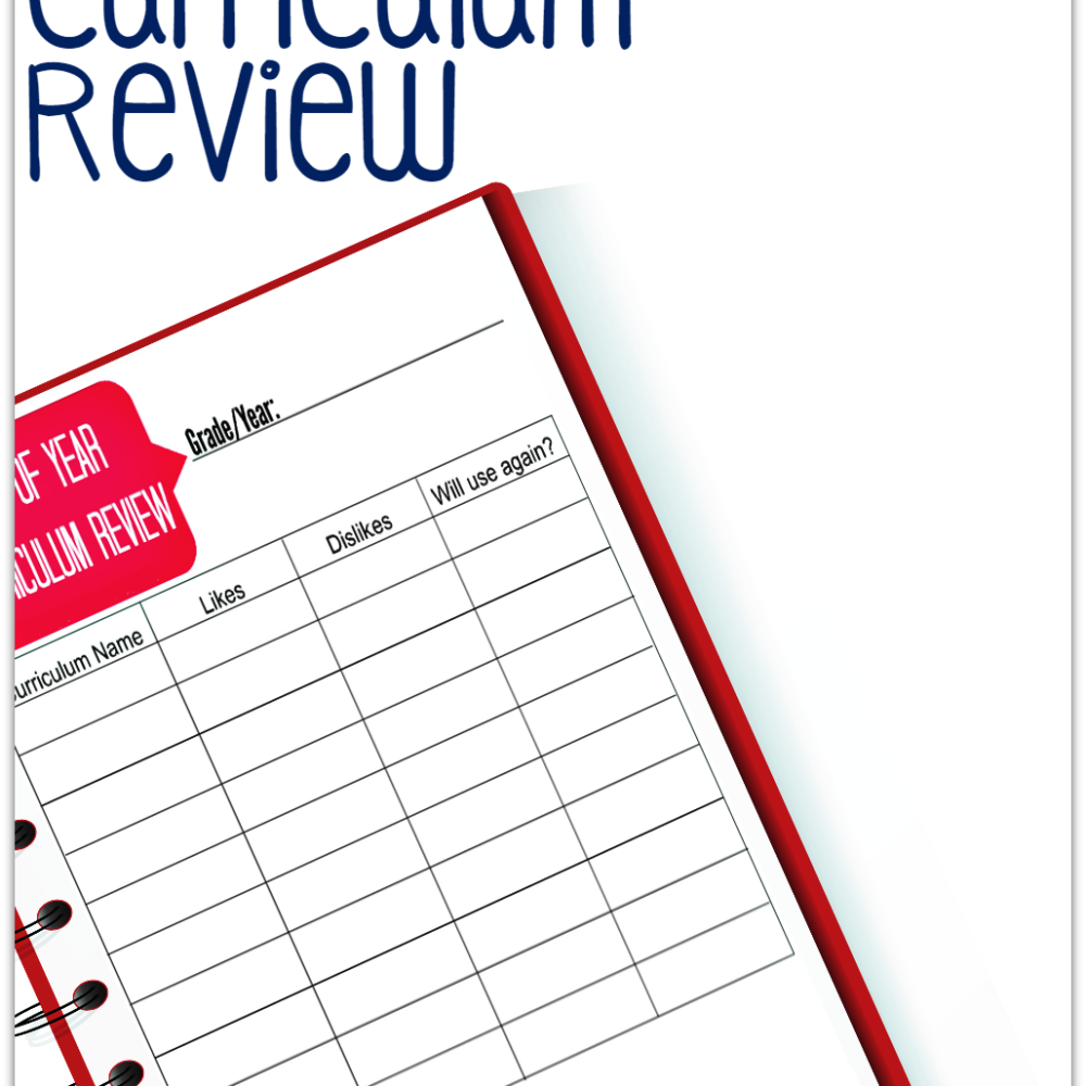 {Free Printable} End of Year Curriculum Review
