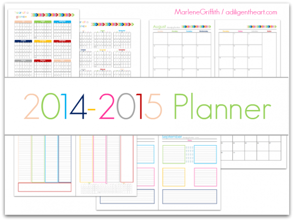 2014-2015 Planner by Marlene Griffith2