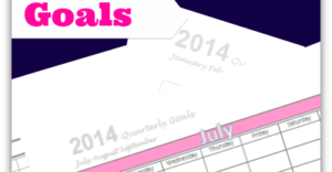 Organizing and Tracking Goals: July, August, September 2014 {FREE Printable}