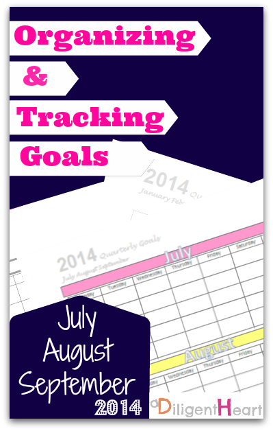 Organizing and Tracking Goals FREE Printable - June,July,August 2014