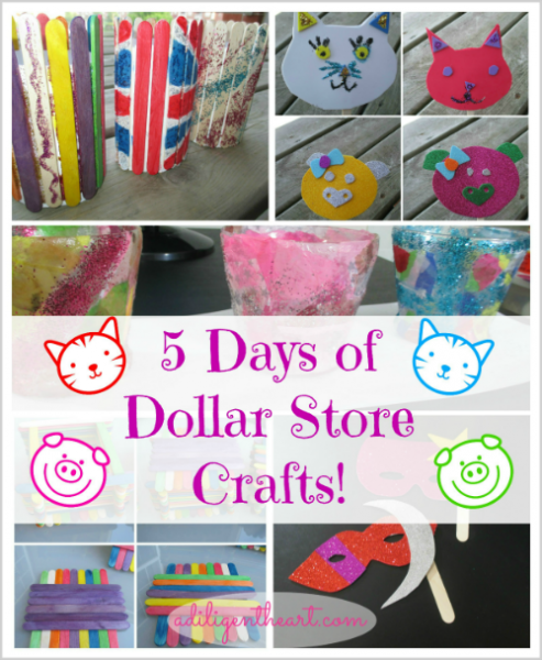 dollar store crafts for kids 5 days of dollar crafts a diligent 12124