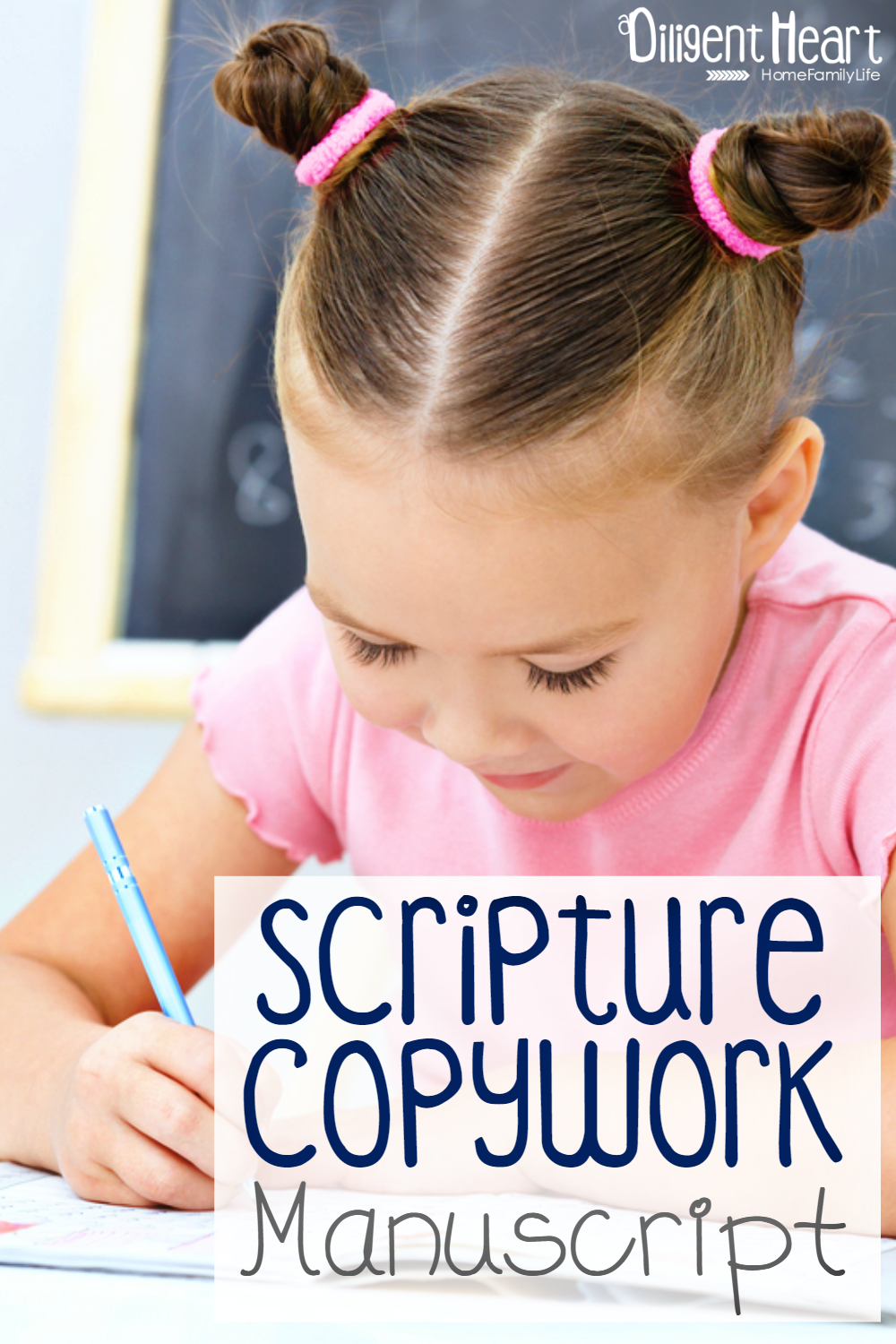 Each of the packs has 10 Bible verses for your kiddo to practice not just their handwriting but also their Bible Verses! Scripture Copywork Manuscript | adiligentheart.com