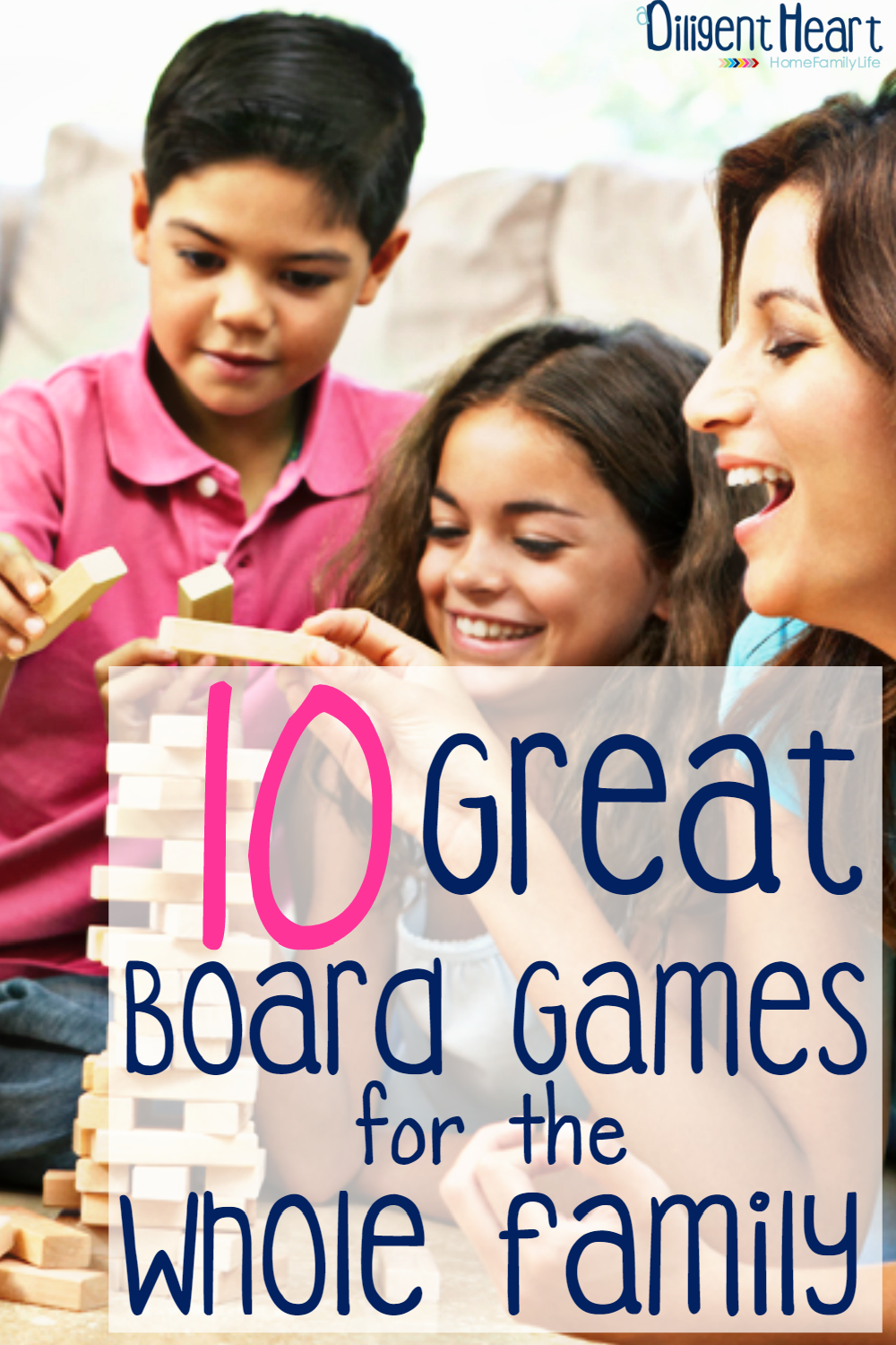 Does your family love a good game night? Our family does! If you're looking to add some board games to your family game library, check some of these out! 10 Great Board Games for the Whole Family   adiligentheart.com