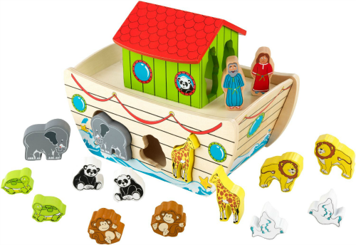 40 Wooden Toys for Toddler Boys I Noah's Arch Shape Sorter I adiligentheart.com