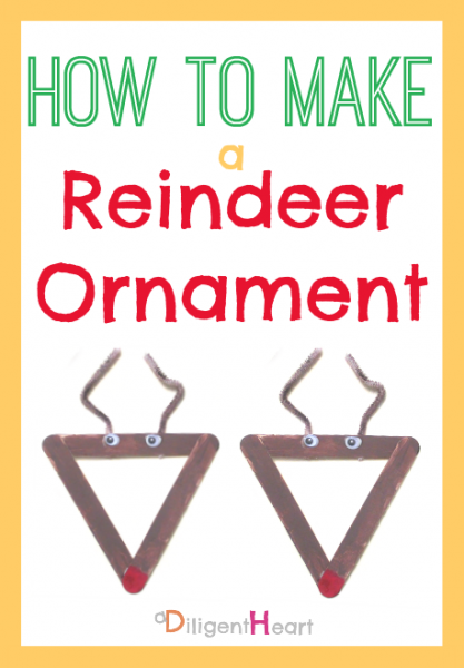 5 Days of Homemade Christmas Crafts: Reindeer Ornaments I adiligentheart.com I #ADHChristmasCrafts