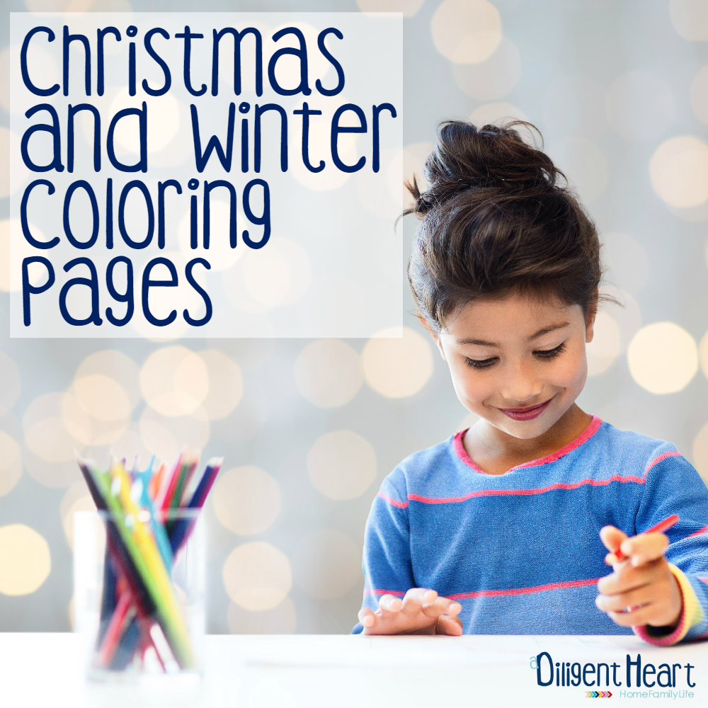 Christmas and Winter Coloring Pages sq