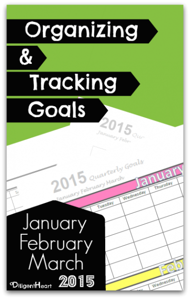 Organizing & Tracking Goals I January February March I 2015 I FREE Printables I adiligentheart.com