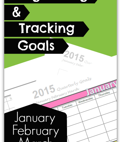 Organizing and Tracking Goals: January February March 2015 {FREE Printables!}
