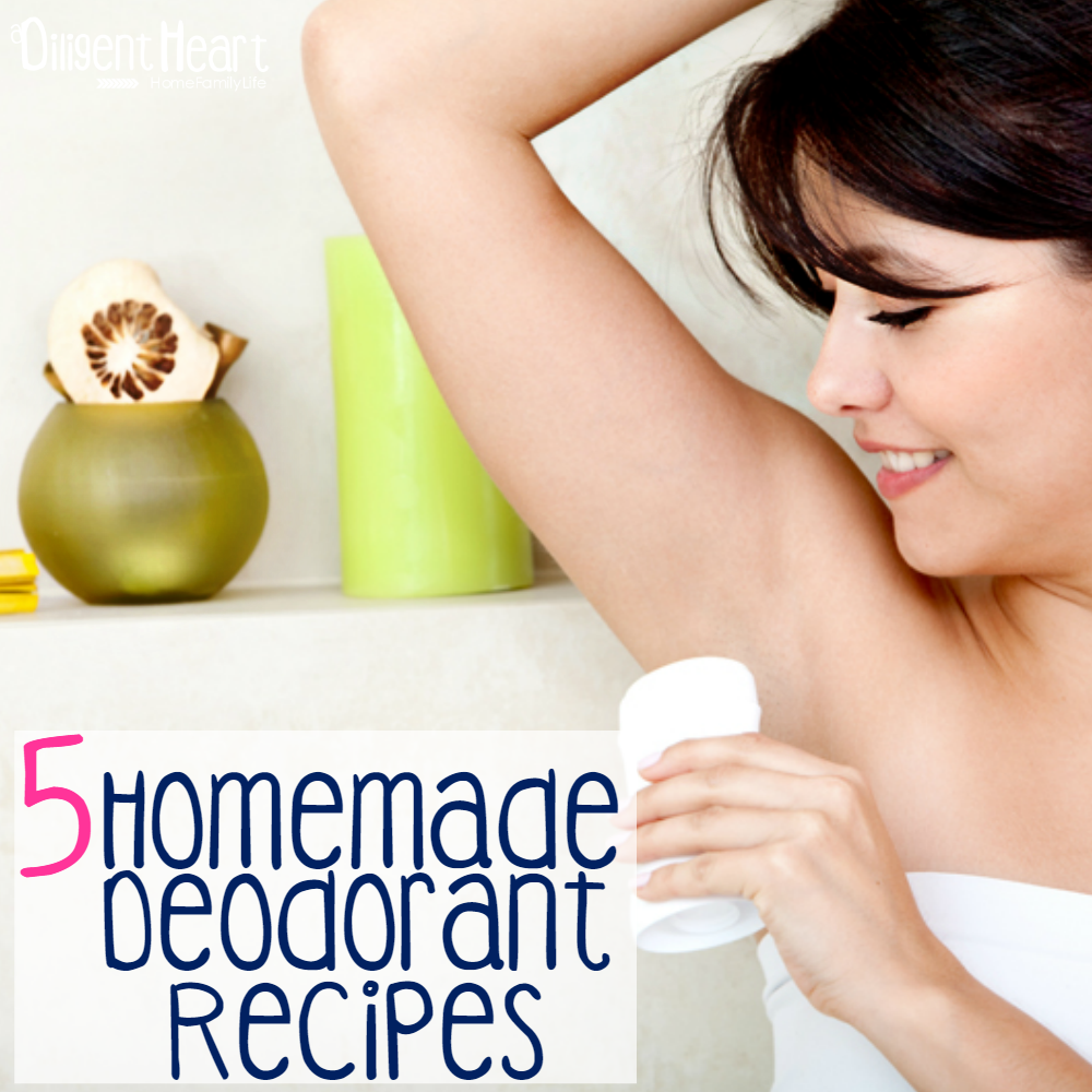 5 Homemade Deodorant Recipes I adiligentheart.com