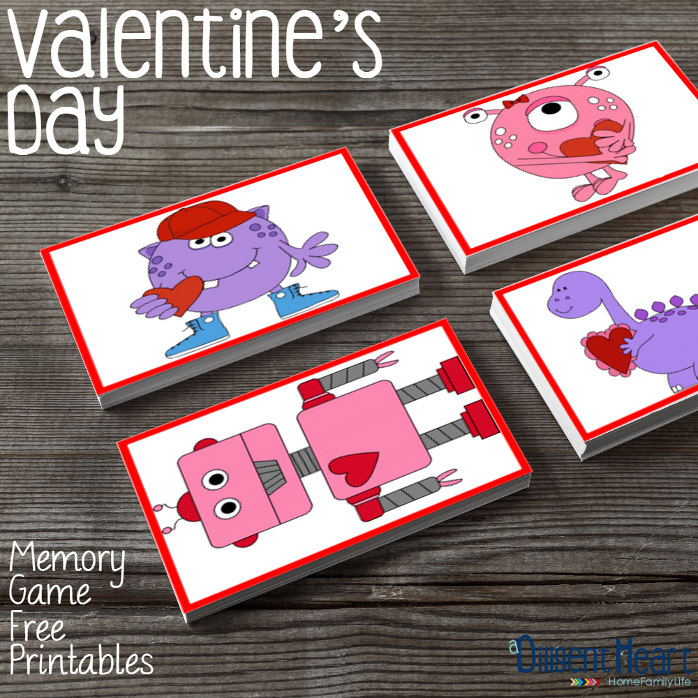 It's always a blast having some sort of educational activity to go with the current holiday! With these memory cards you'll be able to do just that during the Valentine's Day season - because yes, we make it a season around here :) ! I adiligentheart.com