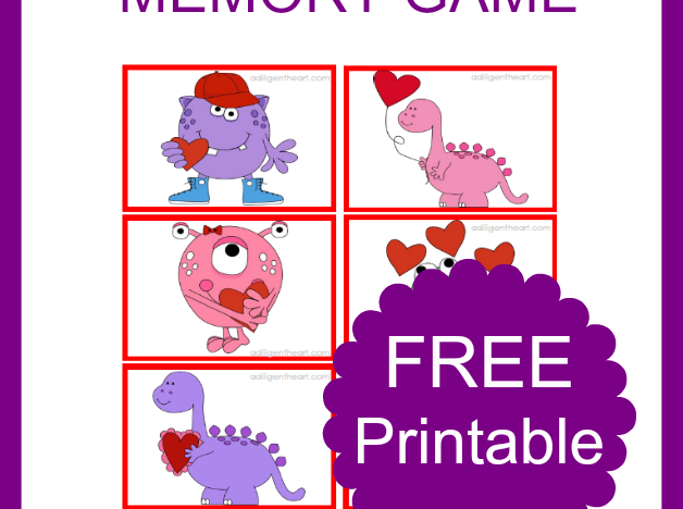 Valentine's Day Themed Memory Game