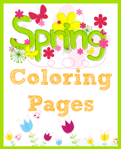 Spring Coloring Pages I ADiligentHeart.com