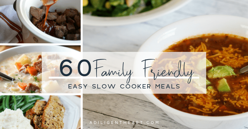 60 Family Friendly Easy Slow Cooker Meals