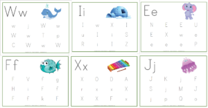 Alphabet: Find the Letters Pages {FREE Printable}