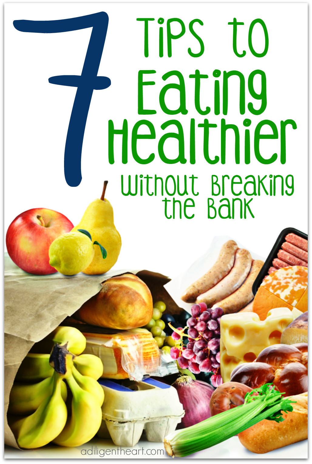 Eating healthy is really easier said than done. A lot of this has to do with most of our habits, but a lot has to do with finances, options, and food cost. Sometimes it's just not that easy to eat a totally organic meal – every meal. Here are 7 tips to help you and your family eat healthier, without breaking the bank. adiligentheart.com