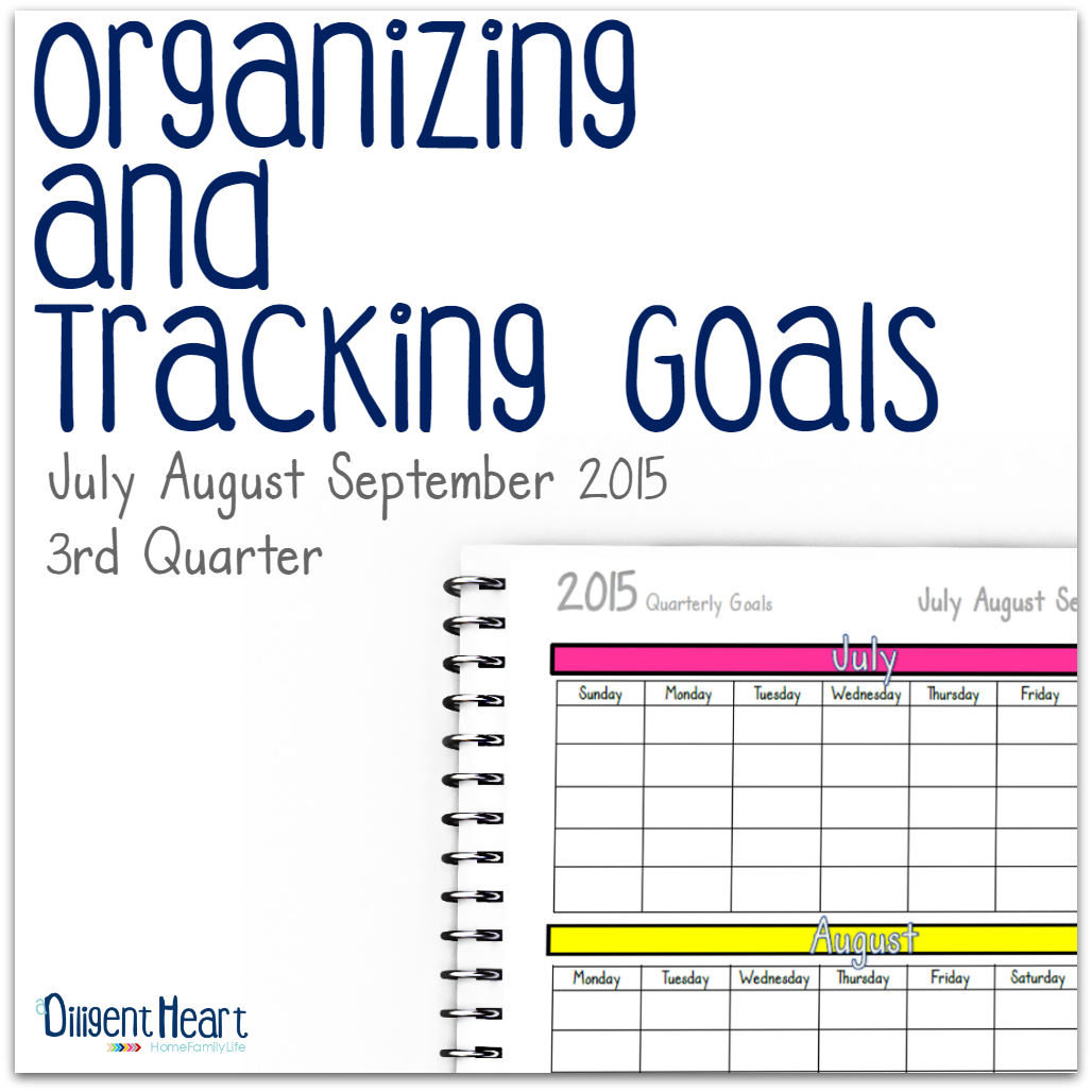 Do you need help staying on top of your goals? Maybe you need a place to jot them down and the ability to keep yourself accountable by tracking your progress. With these sheets, you're totally going to be able to do that! Organizing and Tracking Goals 3rd Quarter 2015 | adiligentheart.com