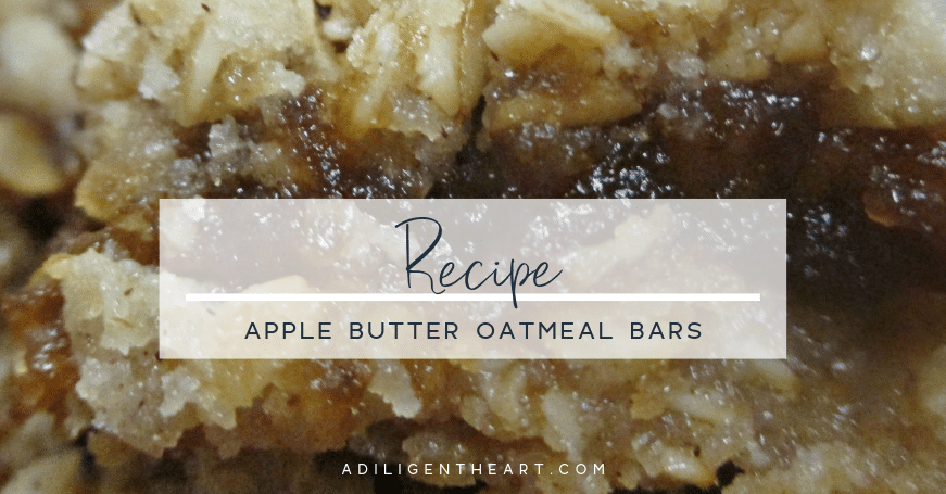Apple Butter Oatmeal Bars