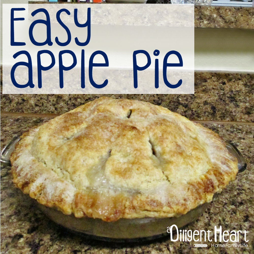 It's FALL!!!! And that means baking season is upon us!!! Check out this super easy and delicious apple pie recipe! It was my first time making apple pie and it came out perfect! Easy Apply Pie | adiligentheart.com