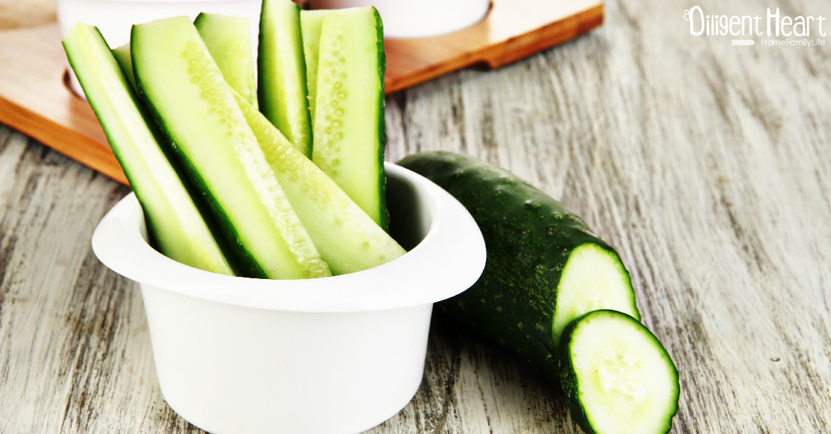 6 Super Helathy Snack Ideas for Kids Cucumbers