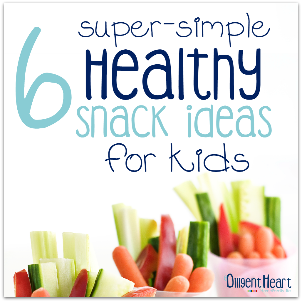 Are you trying to come up with some simple, healthy, and quick to put together healthy snacks for your kiddos? I'm sharing six of my current go-to easy snacks that I love to put together for my kids. You can prep them ahead of time, store them in the fridge or pantry, and just grab them when you need them! | adiligentheart.com