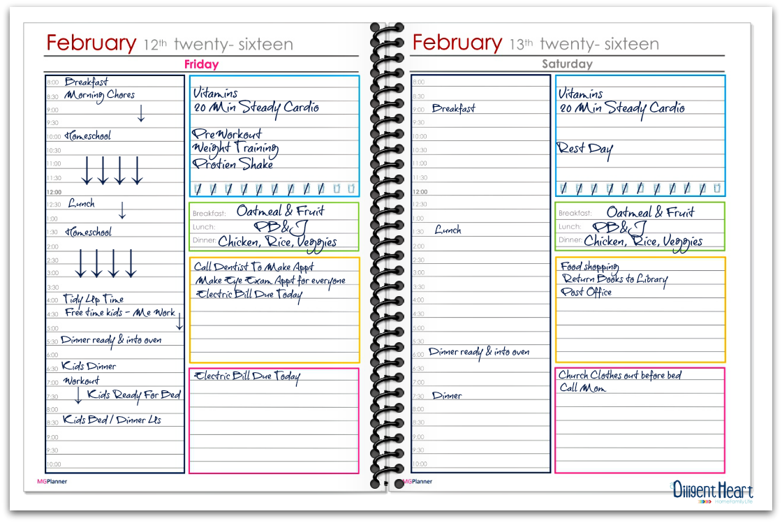 This Is A Sample Look At My Planner If I Were To Use My Daily Planner  (which Is My Preferred Planner)  Daily Planner Sample
