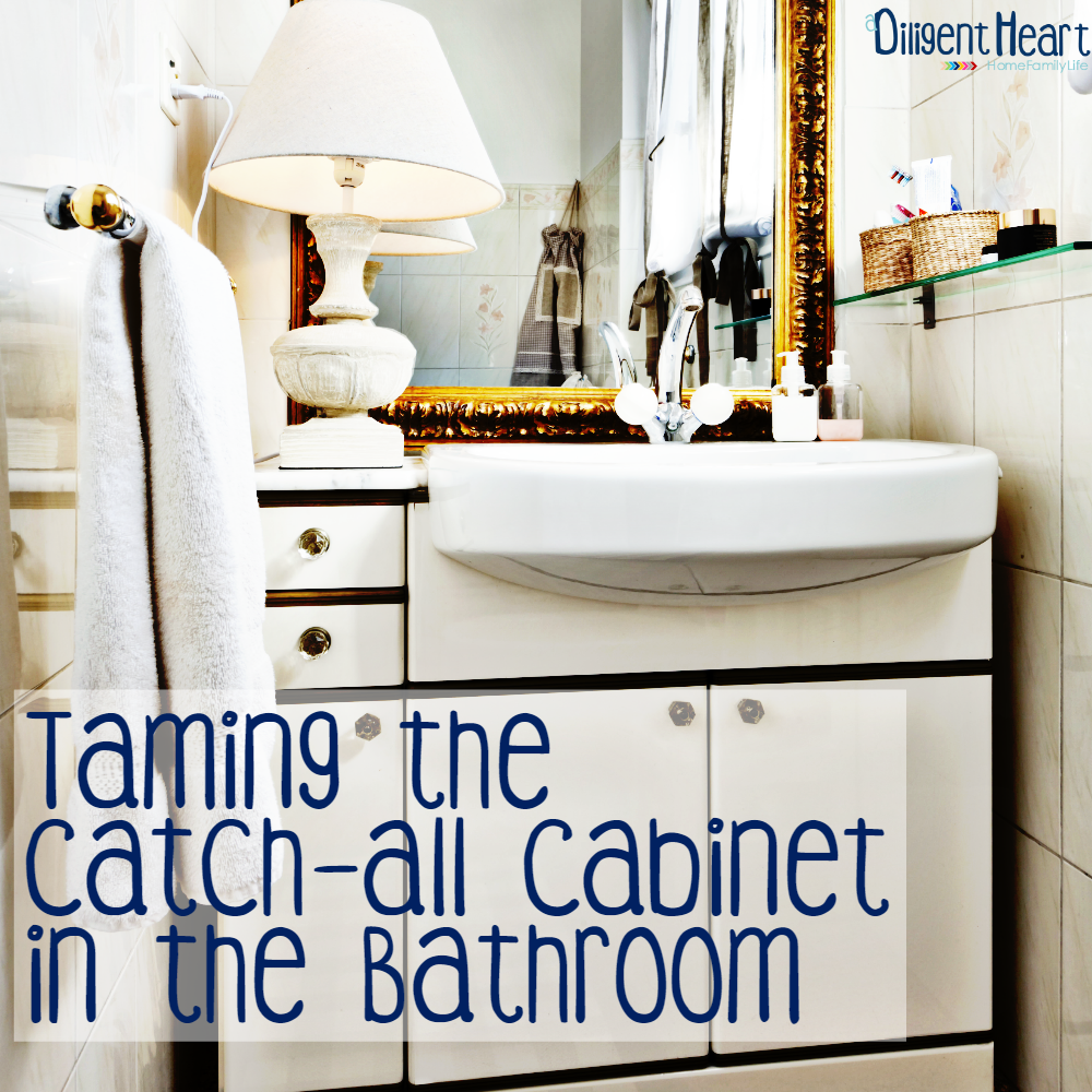Taming The Catch-All Cabinet In The Bathroomsq