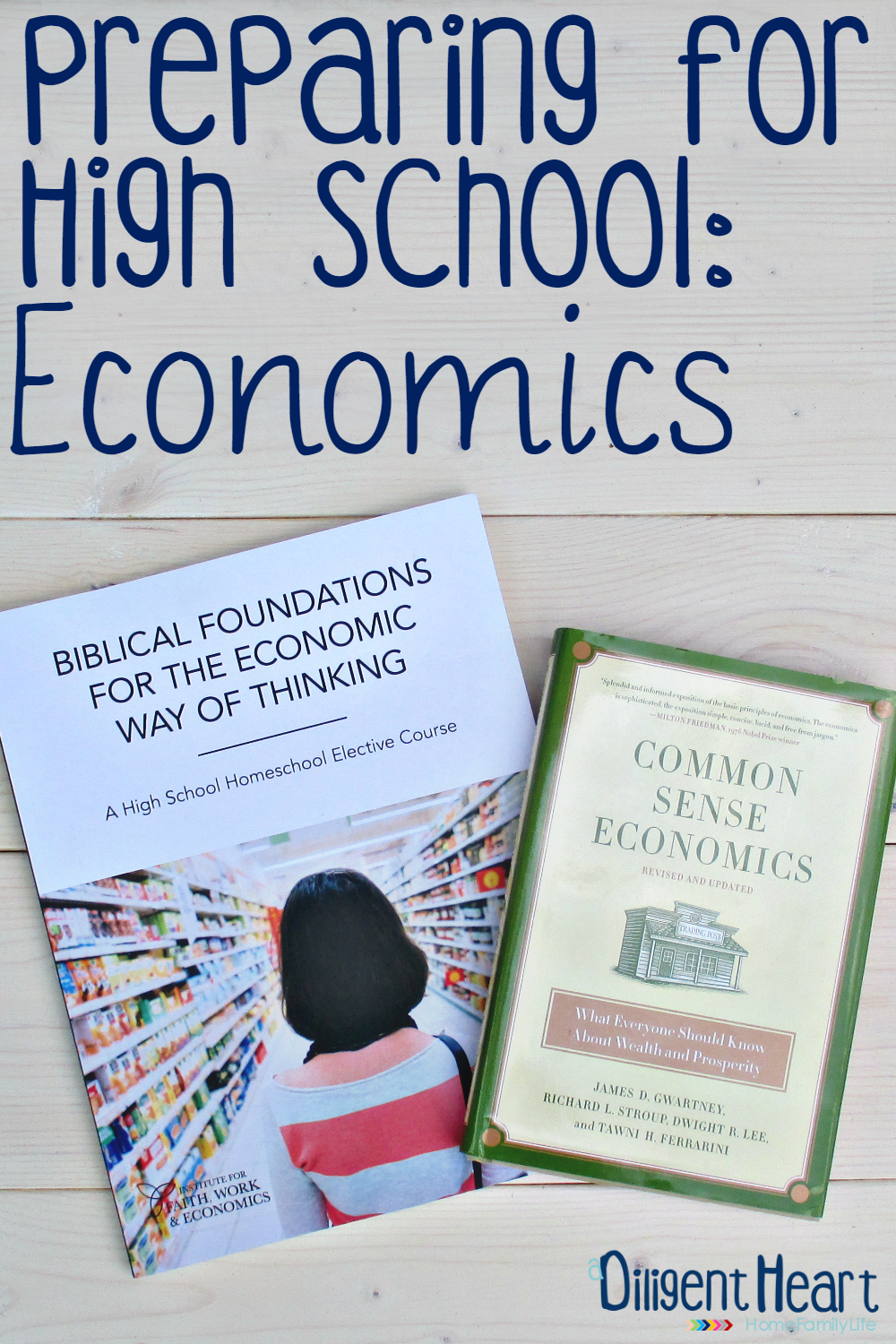 High School planning can be a bit daunting. I'm no stranger to this, as I am right dab in the midst of planning High School. In this post, I am sharing a High School Economics Course that we are considering. Come on over and learn more about it, as well as my thoughts on the overall course.I adiligentheart.com