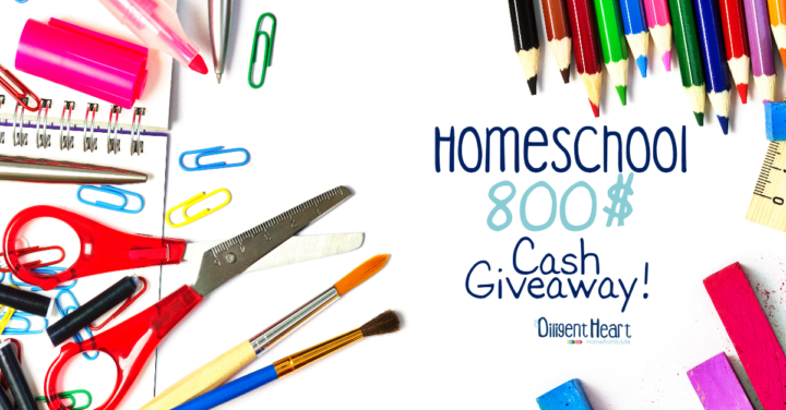 Homeschool 800$ Cash Giveaway!!