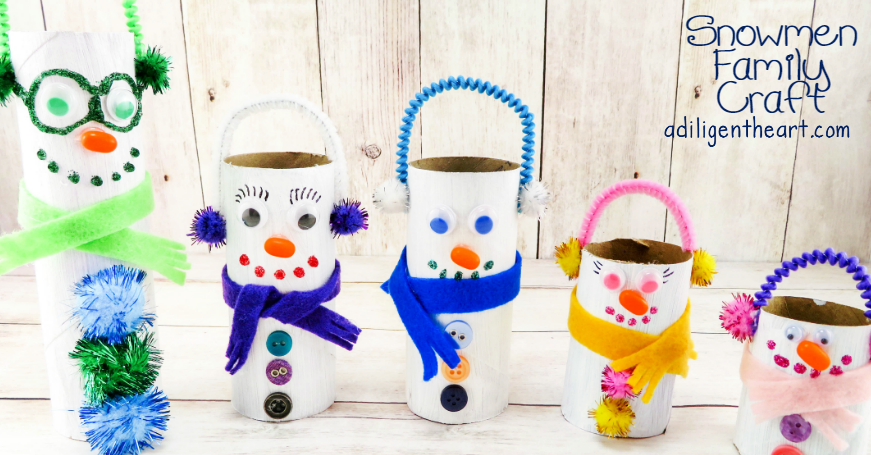 Snowmen Family Craft