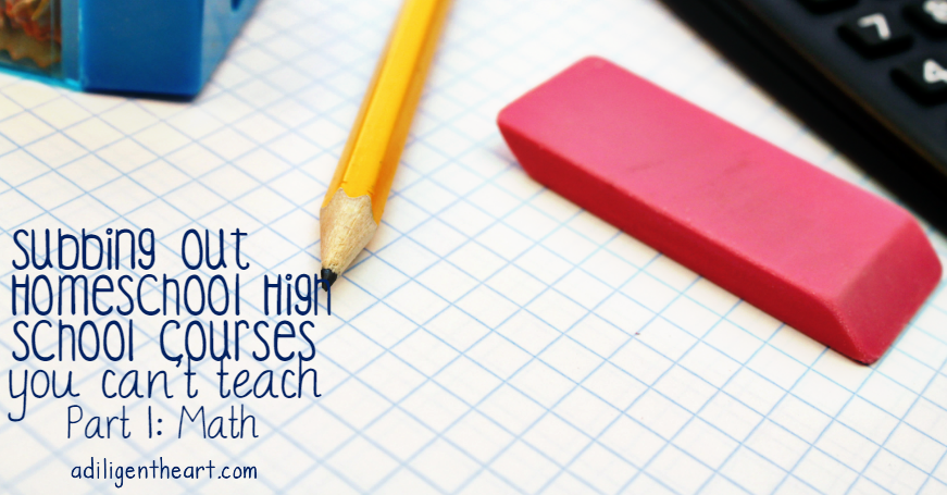 Subbing out Homeschool High School Courses You Can't Teach : Math