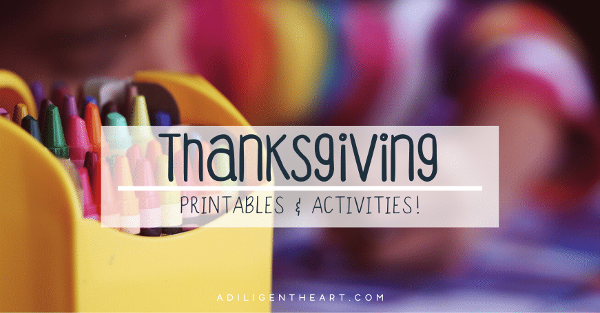 List of Thanksgiving Printables & Activities!
