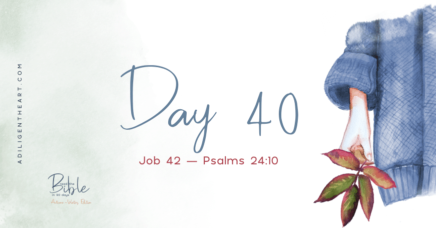 Day 40: Read The Bible In 90 Days
